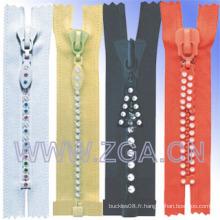 Accessoires de vêtement à rayures Zipper