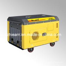 Ensemble de générateur diesel à deux cylindres refroidis par air couleur jaune (DG15000SE)