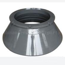 Mangan Stahl Kegel Brecher Schüssel Liner Kegel Brecher konkav und Mantel