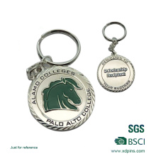 Angepasste hohe Qualität billig Emaille Pferd Logo Schlüsselanhänger