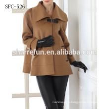 Мода короткие свободные стиль женская 100% кашемир пальто
