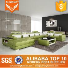 Sexy U forma extra 7 plazas sofá cama salón con cojines