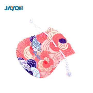 Bolsa de microfibra azul claro para joyas