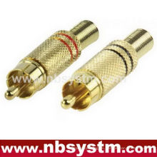 RCA jack metal con muelle ID 5.8mm