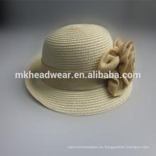 Sombrero de paja barato de las señoras al por mayor
