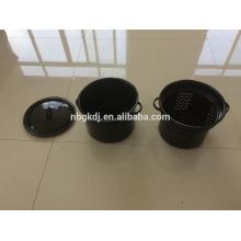Enamel noodle pot with basket