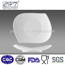 Bone china appetizer or dessert plate in different sizes