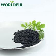 amino acid shiny black ball with NPK 16-0-1 agricultural organic fertilizer