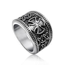 Рок и ролл Креста кольцо мода аксессуары из нержавеющей стали