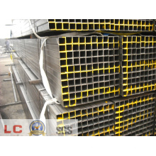 Section creuse carrée de tuyau en acier soudé pour clôture