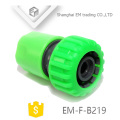 EM-F-B219 Connecteur de tuyau en plastique vert pour jardin