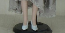 Porcelain Dolls With Grey Dress