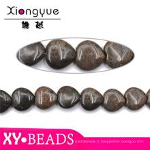 Où trouver Semi précieuses pierres Agate café coeur perles