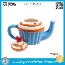 Pote de té de pastel de cerámica de pastel dulce único