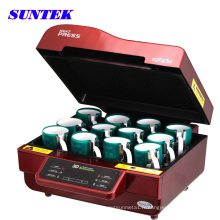 3D tout-en un seul Combo Sublimation thermique Machine de presse (ST-3042)