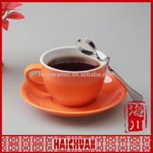 Taza de café de la marca de fábrica del color 3oz y platillo