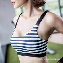 2017 new design strip no underwire comfortable breatnable sport yoja vest bra