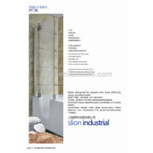 Hot sell acrylic white old man walk in bathtub for soaking