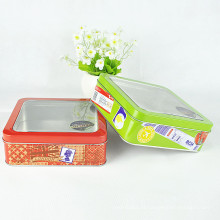 Com PVC Window Decorating Christmas Cookie Tin Box