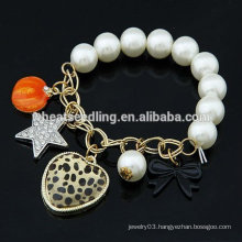 Hot Sale Handmade Pearl charm Bracelets With Multielement Jewelry Wholesale FB25