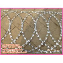 BT0 security fence reinforce cross type welded razor barbed wire mesh