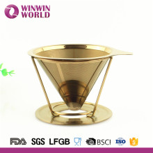 Christmas Gift Paperless Double Wall Titanium Stainless Steel Coffee Dripper