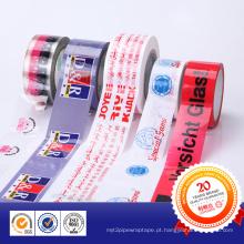 Base de acrílico impresso fita de empacotamento do adesivo BOPP