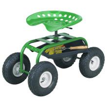 Carrinho de assento de trator com rodas de 4 rodas