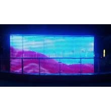 Pantalla de fachada de malla de fachada de medios LED