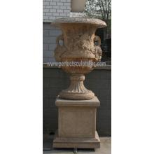 Urna de mármol de piedra para la decoración del jardín (QFP188)