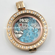 Stainless Steel Large Changeable Floating Locket Pendant