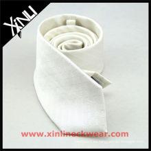Corbata de seda blanca de sublimación personalizada