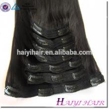 Directe usine de cheveux double dessinée remy gros prix pince à cheveux humains dans les extensions
