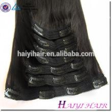 Прямая фабрика волос двухместный нарисованные Оптовая цена Remy человеческих волос клип в расширениях