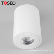 Round surface mount adjustable pure alu led cob 8W ceiling down light fixture