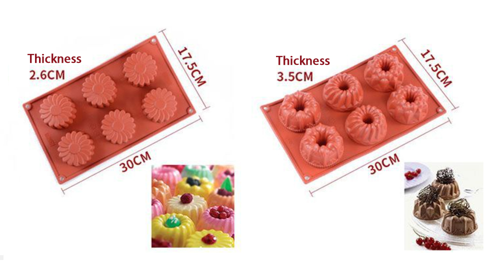 Flower Silicone Mousse Cake Mold (4)