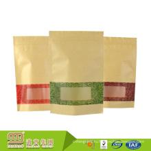 Гуанчжоу 100% Безопасности, Качества Еды Изготовленные На Заказ Окна Дизайн Встаньте Воск Бумажные Мешки Белые Для Пищевой