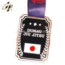 Articles en vrac bon marché en alliage de zinc émail logo médaille en métal jiu-jitsu