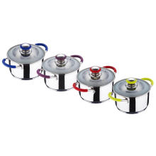 Stainless Steel Casserole With Silicone Handles
