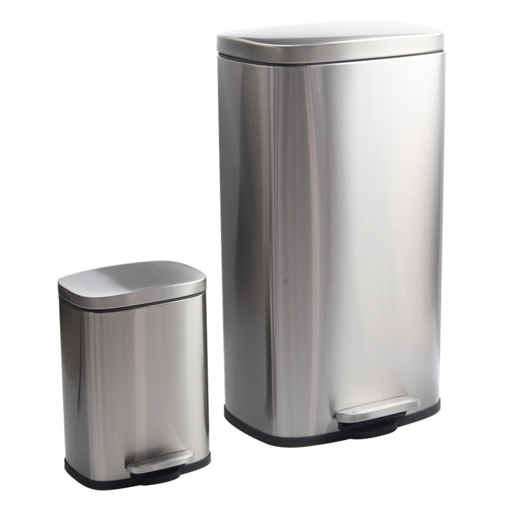 Stainless Steel Trash Can Set