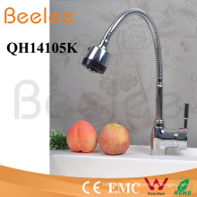 China Sanitary Ware Rotatable Flow Changeable Jet Deck Mount Hot and Cold Kitchen Faucet