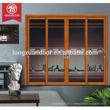 Conception extérieure de portes et fenêtres extérieures en aluminium résidentiel