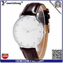 Yxl-244 New Style Diamond Men Watch Leather Stainless Steel Back Business Quartz Mens Watches