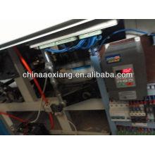 Equipo de control de computadora rodando camiseta y máquina de fabricación de bolsas planas para la fabricación de bolsos de cuero