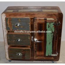 Рециркулированный Деревянный Шкаф