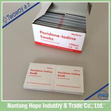 non woven 65mm x 30mm povidone iodine prep pad
