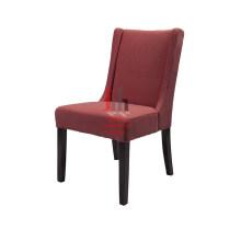 Chaise de salle à manger en tissu rose