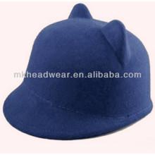 Wholesale Womens Wool Felt Cat Ears Bowler Hat for Sale