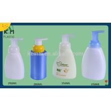 Alimentação de fábrica de PET garrafas de loção PET com bomba, shampoo loção bomba garrafas