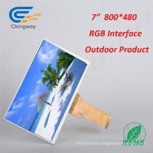 "7"" 50 Pin RGB Interface Transpatent TFT Display"